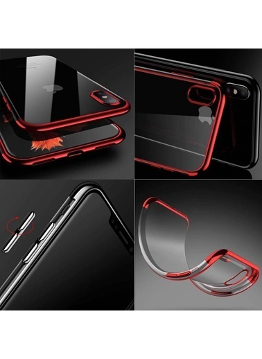 Microsonic iPhone X Kılıf Skyfall Transparent Clear  Mavi